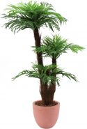 Europalms Areca palm with palm fiber trunk, 120cm