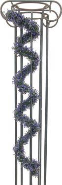 Europalms Grass Garland, violet, 180cm