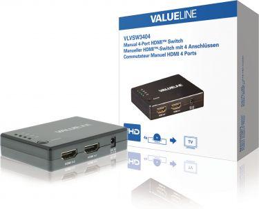 Valueline VLVSW3404 4-Port Hdmi Switch Sort