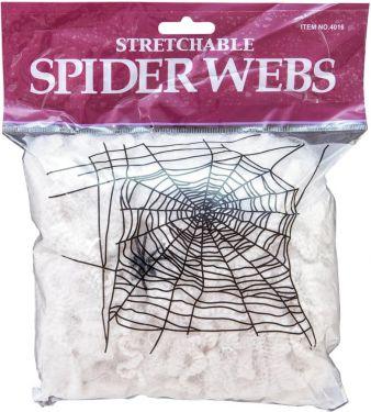 Halloween Edderkoppespind. Hvid 100g UV-aktivt