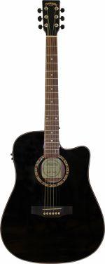 Santana LA90 Western guitar CW og MG30EQ, Sort