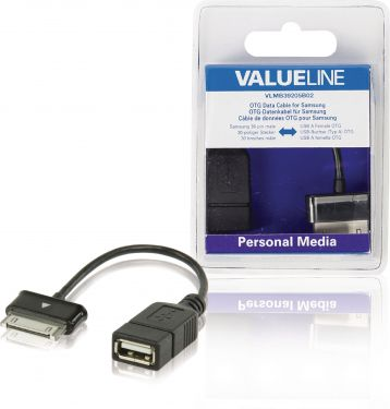 Valueline VLMB39205B02 Sync Og Charge Kabel Samsung 30-Pin Han - USB A Hun 0.20 m Sort