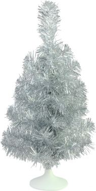 Europalms Table christmas tree, silver, 45cm