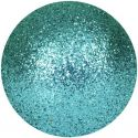 Europalms Deco Ball 6cm, turquoise, glitter 6x