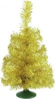 Christmas Decorations, Europalms Table christmas tree, gold, 45cm