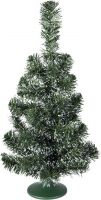 Europalms Table christmas tree, green-white, 45cm