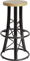 Alutruss, Alutruss Bar Stool, curved black