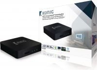 König 4K DVB-T2 / DVB-S2 Android Streaming Box med Fly Mus, DVB-TS2 4KASB