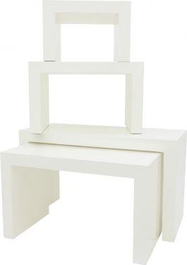 Europalms LEICHTSIN DECO TABLES, white