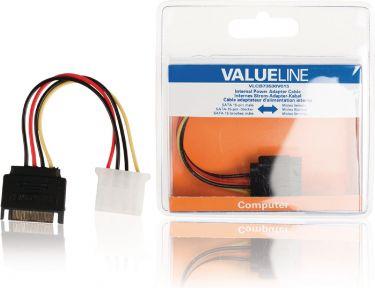 Valueline VLCB73530V015 Intern Strømkabel SATA 15-pin Han - Molex Hun 0.15 m
