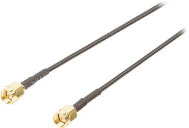 Valueline VGSP02000B10 Antennekabel SMA Han - SMA Han 1.00 m Sort
