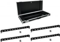 Eurolite Set 4x LED BAR-1250 RGB+UV + PRO Case