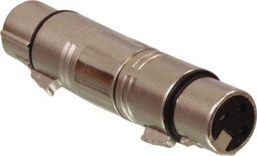 Valueline XLR-3F3F Xlr Adapter XLR 3-Pin Hun - XLR 3-Pin Hun Sølv