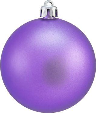 Europalms Deco Ball 7cm, purple, matt 6x
