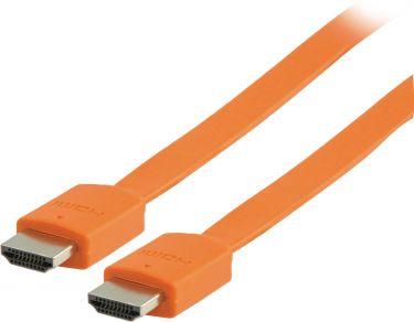 Valueline VLMP34010O2.00 High Speed Hdmi Kabel Med Ethernet Flat HDMI-Stik - HDMI-Stik 2.00 m Orange