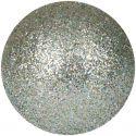 Europalms Deco Ball 3,5cm, silver, glitter 48x