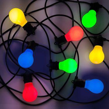 Meget 10A04G55 |Udendørs Party Lyskæde 11.5m med 20 farvede LED pærer SO78