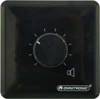 Omnitronic PA Volume Controller 20W stereo bk