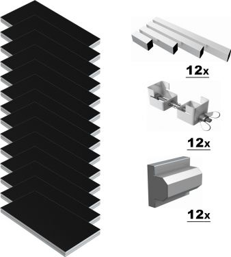 Power Dynamics Scene-Podie 24m² - komplet pakke!
