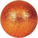 Europalms Deco Ball 6cm, copper, glitter 6x
