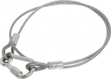 Cabinet accessories - Steel safety cable, length 900mm, 3mm+ÿ