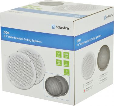 "0D6-W8 Water resistant speaker, 16.5cm (6.5""), 100W max, 8 ohms, White"