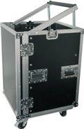 "12U 19"" rack case with wheels"
