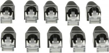 Valueline VLCP89350B Stik RJ45 Solid UTP CAT5 Han Gennemsigtig/Sort