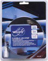VelLight - LED stripsæt (IP61) - 180 kold hvide LED m. strømfors. (3m)