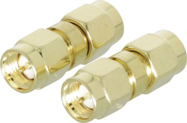 Valueline SMA Adapter SMA Male - SMA Male Gold, VLSP02941A