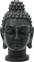 Europalms Head of Buddha, antique-black, 75cm