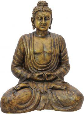 Europalms Buddha, antique-gold, 120cm