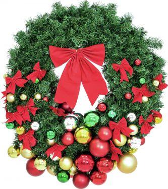 Europalms Premium Fir Wreath, decorated, 90cm