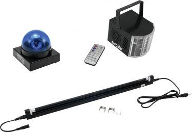 Eurolite Set LED Buzzer-Polizeilicht blue + LED Mini D-4 + UV tu