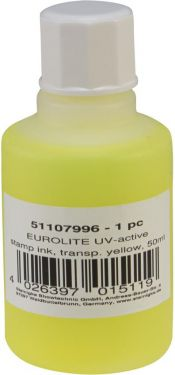 Eurolite UV-active Stamp Ink, transparent yellow, 50ml