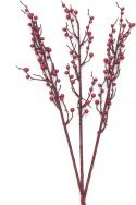 Kunstige Blomster, Europalms Berry spray glitter red 85cm 3x