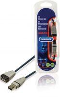 Bandridge BCL4302 Usb 2.0 Forlængerkabel USB A Han - USB A Hun Runde 2.00 m Blå