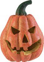 Halloween Græskarhoved med glimmer