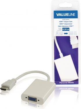 Valueline VLMB34900W02 High Speed Hdmi-Kabel HDMI-Stik - VGA Hun 0.20 m Hvid