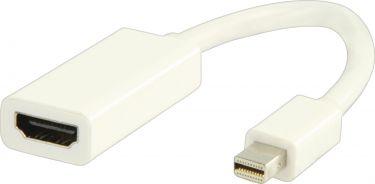 Valueline VLMP37650W0.20 Mini Displayport Kabel Mini DisplayPort Han - HDMI Hun 0.20 m Hvid