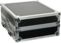 """Flightcase 19"""" med udskæring til mixer (10U + 2U højde)"""