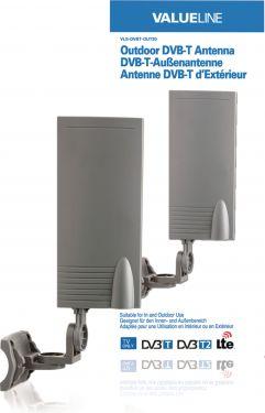 Valueline VLS-DVBT-OUT20 DVB-T/T2 Udendørsantenne 15 dB VHF / UHF