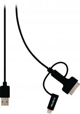 Valueline VLMP39410B1.00 3-I-1 Opladerkabel USB A Han - Micro B Han 1.00 m Sort