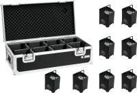 Eurolite Set 8x AKKU UP-4 HCL Spot WDMX bk + Case