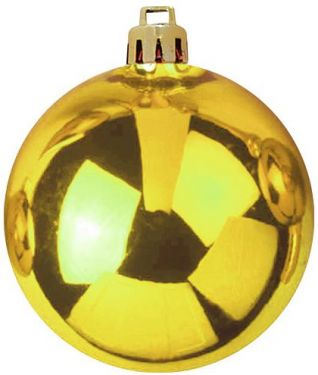 Europalms Deco Ball 10cm, gold 4x