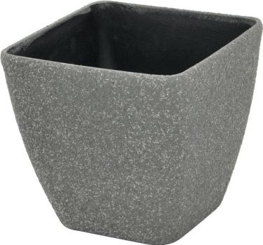 Europalms Deco cachepot STONA-20, rectangular, grey