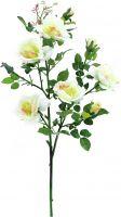 Europalms Rose branch, white, 90cm