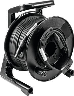PSSO DMX cable drum XLR 50m bk Neutrik 2x0.22