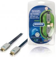 Bandridge BVL1605 High Speed Hdmi Kabel Med Ethernet Flat HDMI-Stik - HDMI-Stik