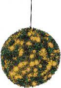 Europalms Boxwood ball with orange LEDs, 40cm